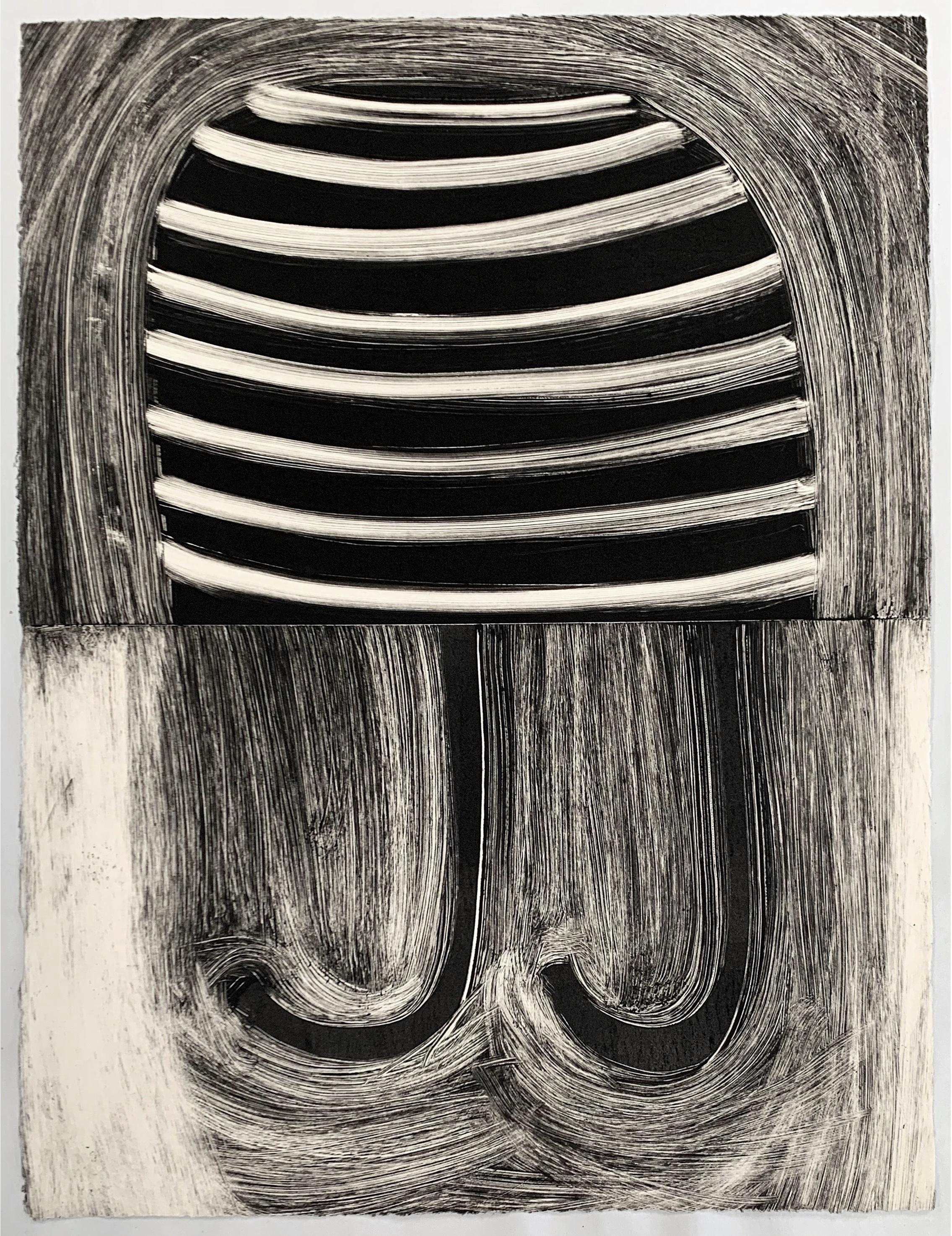 "Untitled, 2019, monotype, 14-3/4 x 11"""