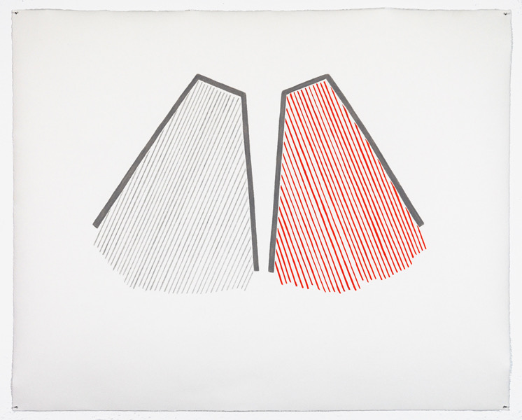 Untitled, 2011, pencil, colored pencil, ink on paper, 16-½ x 21""