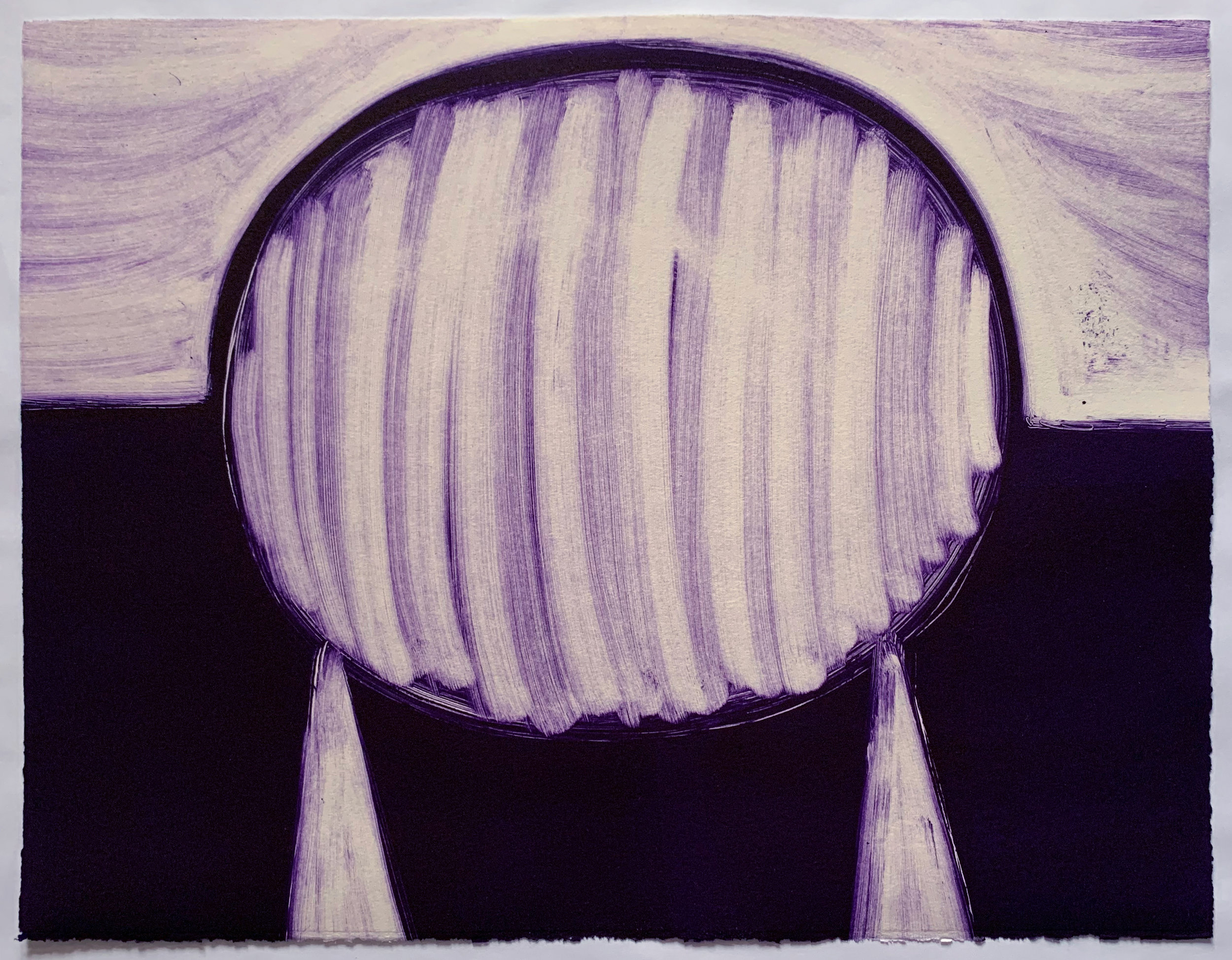 "Untitled, 2019, monotype, 11-1/4 x 14-1/2"""