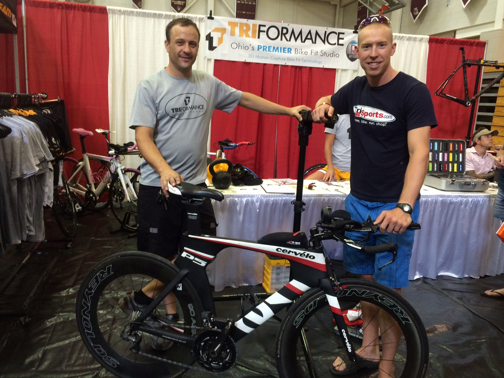 Bill and I showing off my Cervelo P5