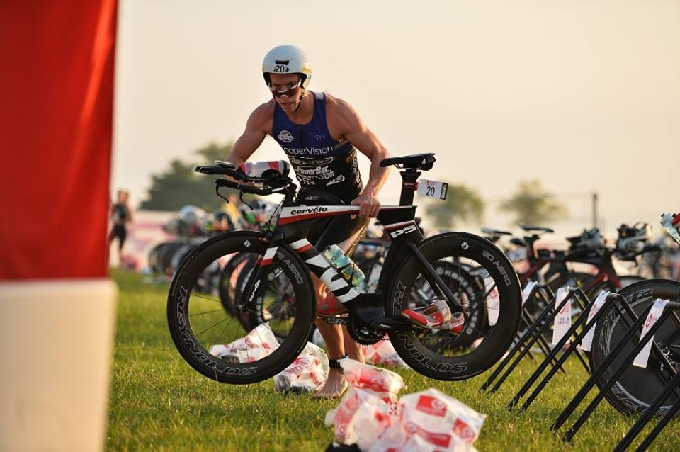 Triathlete Magazine got a great shot of me in T1 with my new Cervelo P5!