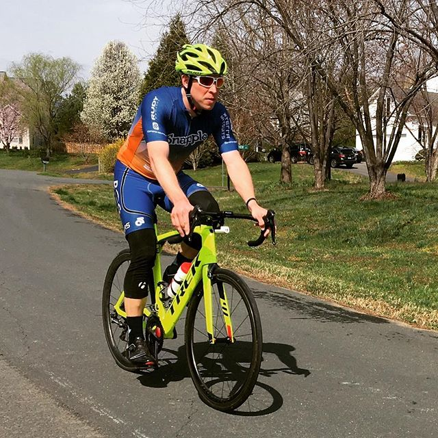 What an amazing 70 miles to start a Saturday! Rolling with @blueridgecyclery @rudyprojectna @garneau @trekbikes @xterrawetsuits @ridebontrager @pioneercycleusa #snappletriteam #bike #saturday #spring #fun #gettingfitagain #trekmadone #allthewatts