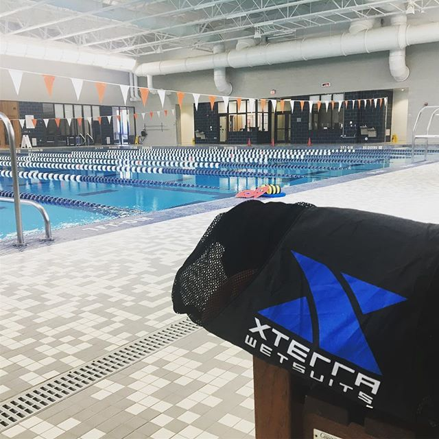 What a great morning for a swim! Starting the day out right thanks to @xterrawetsuits #snappletriteam #triathlon #swim #allthelaps #saturday
