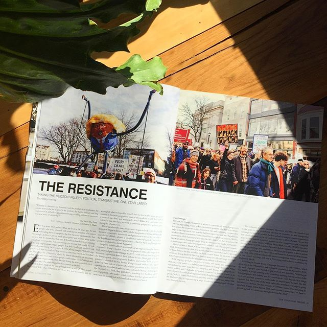 My photos from the Hudson Women's March on January 21st, 2018 appeared in the  February '18 issue of Chronogram
