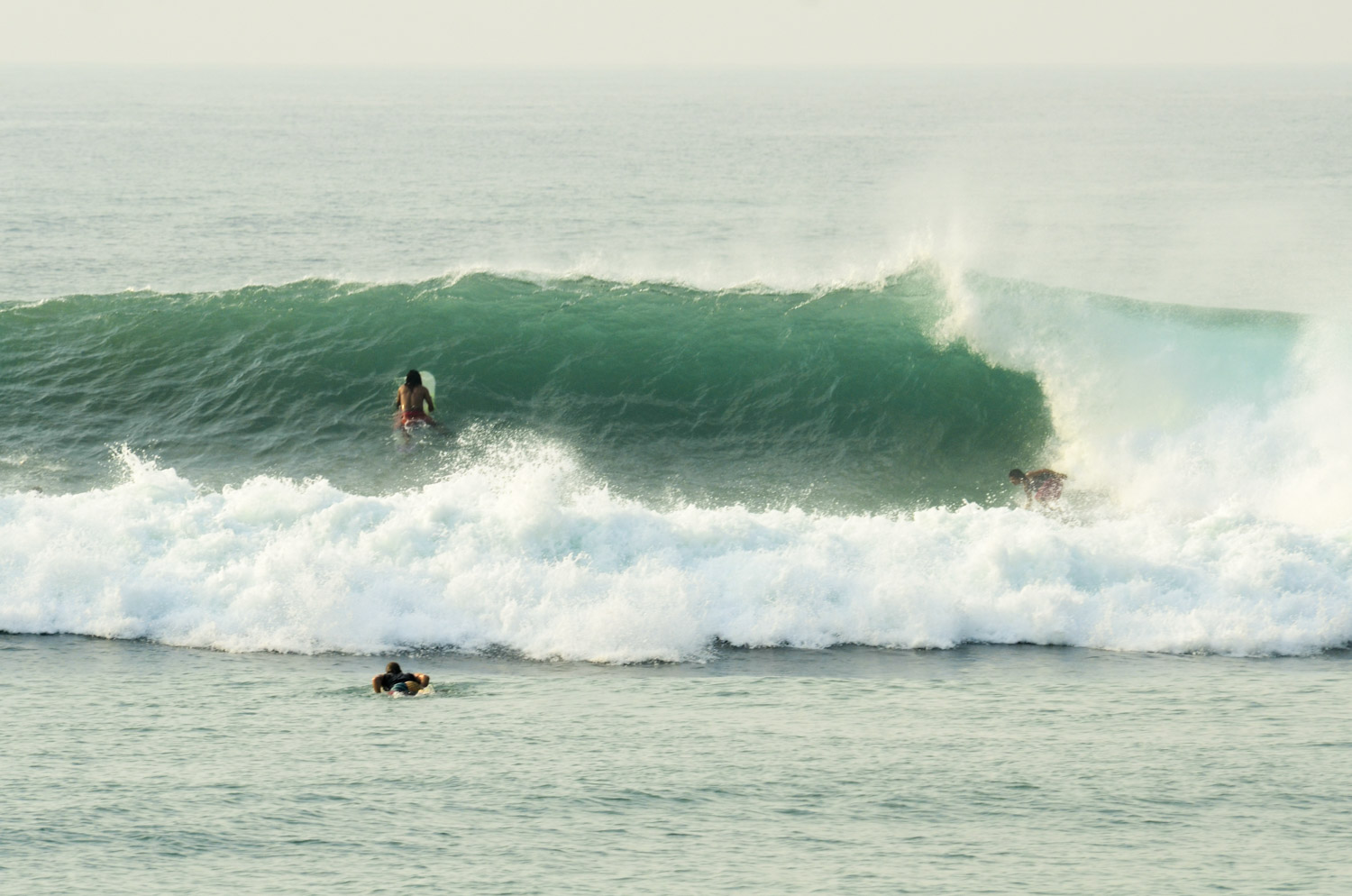 Local surfer on a late drop