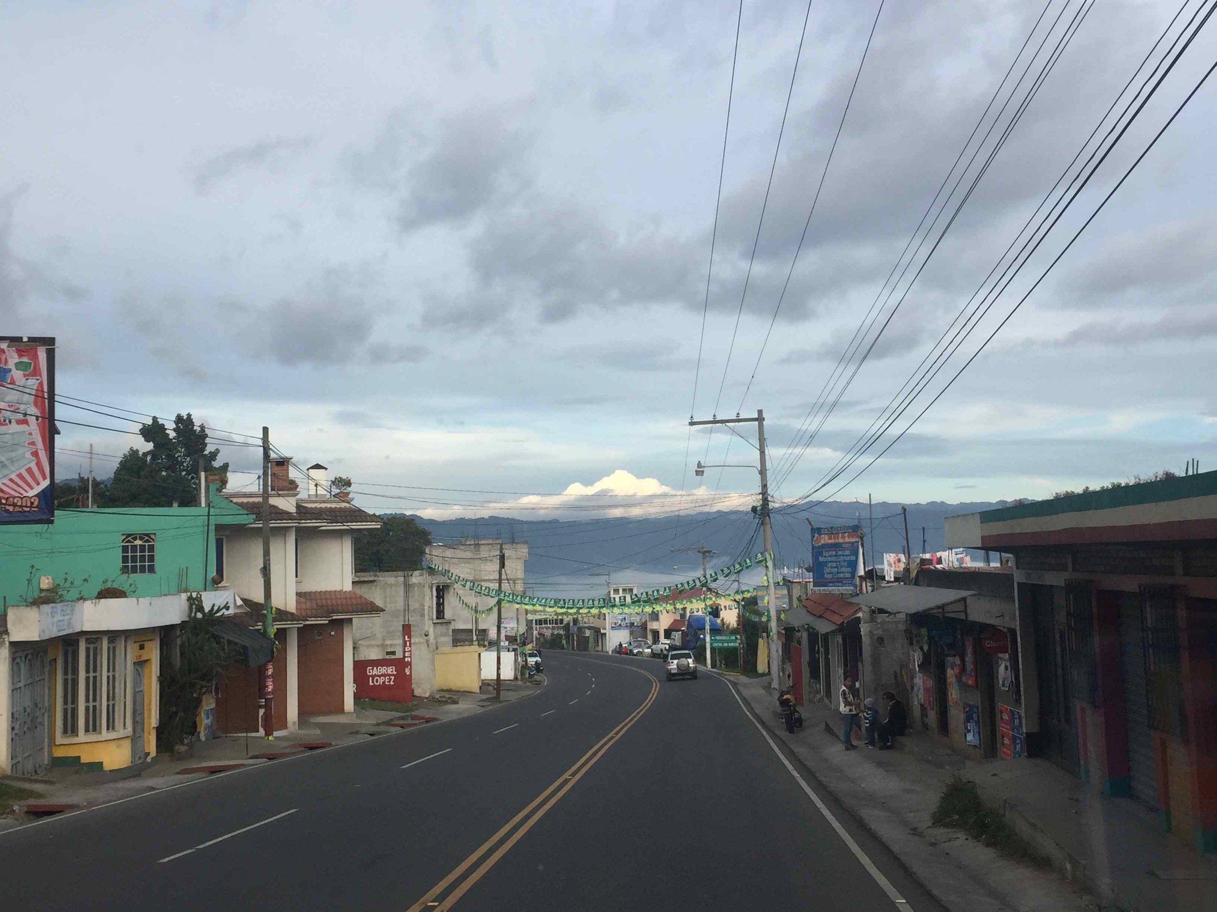 Heading towards Xela on the mountain HWY