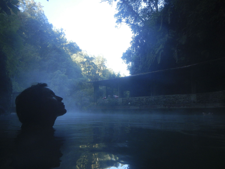 Early morning dip at Fuentes Georginas. Photo: Matty Liot