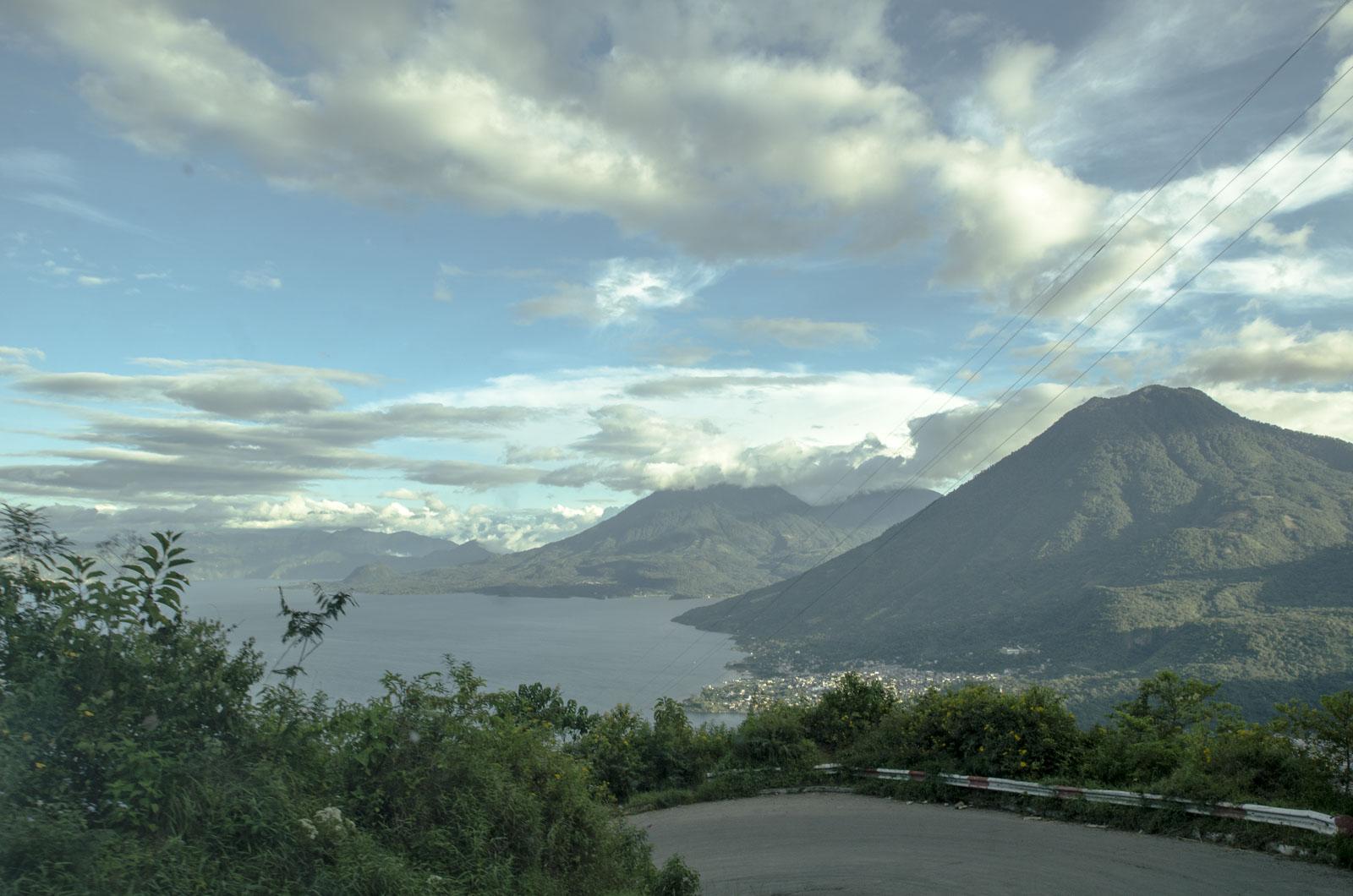 First view of Lake Atitlan