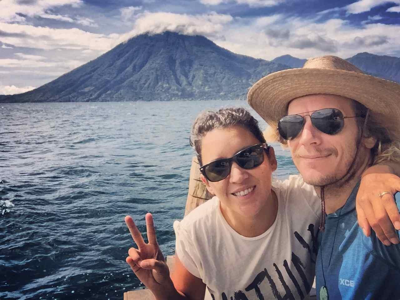 Happy in Lake Atitlan