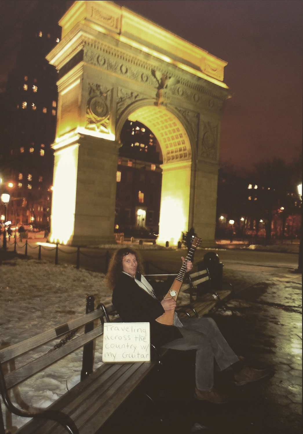Matty busking in Washington Square, NY