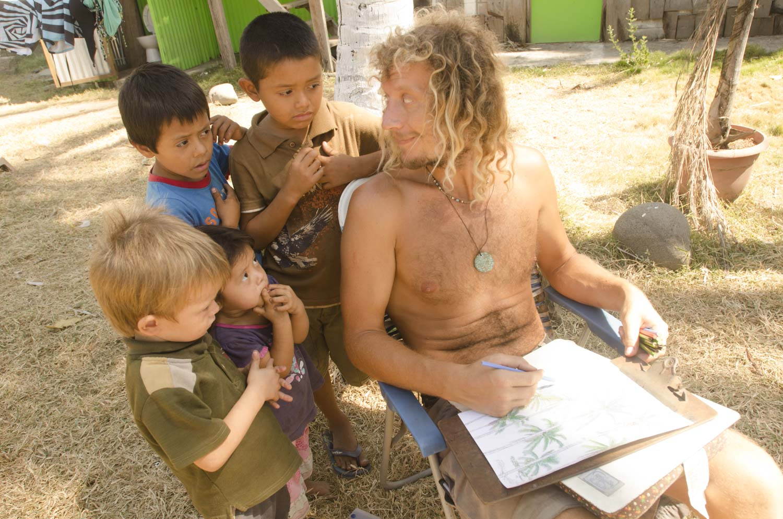 Domingo's children, always curious