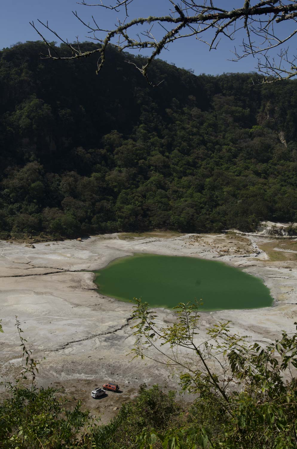 Camping in the crater of a dormant volcano