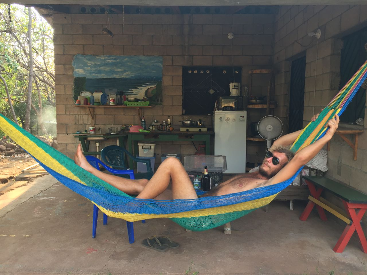 Chilling in Rancho Mango after surfing
