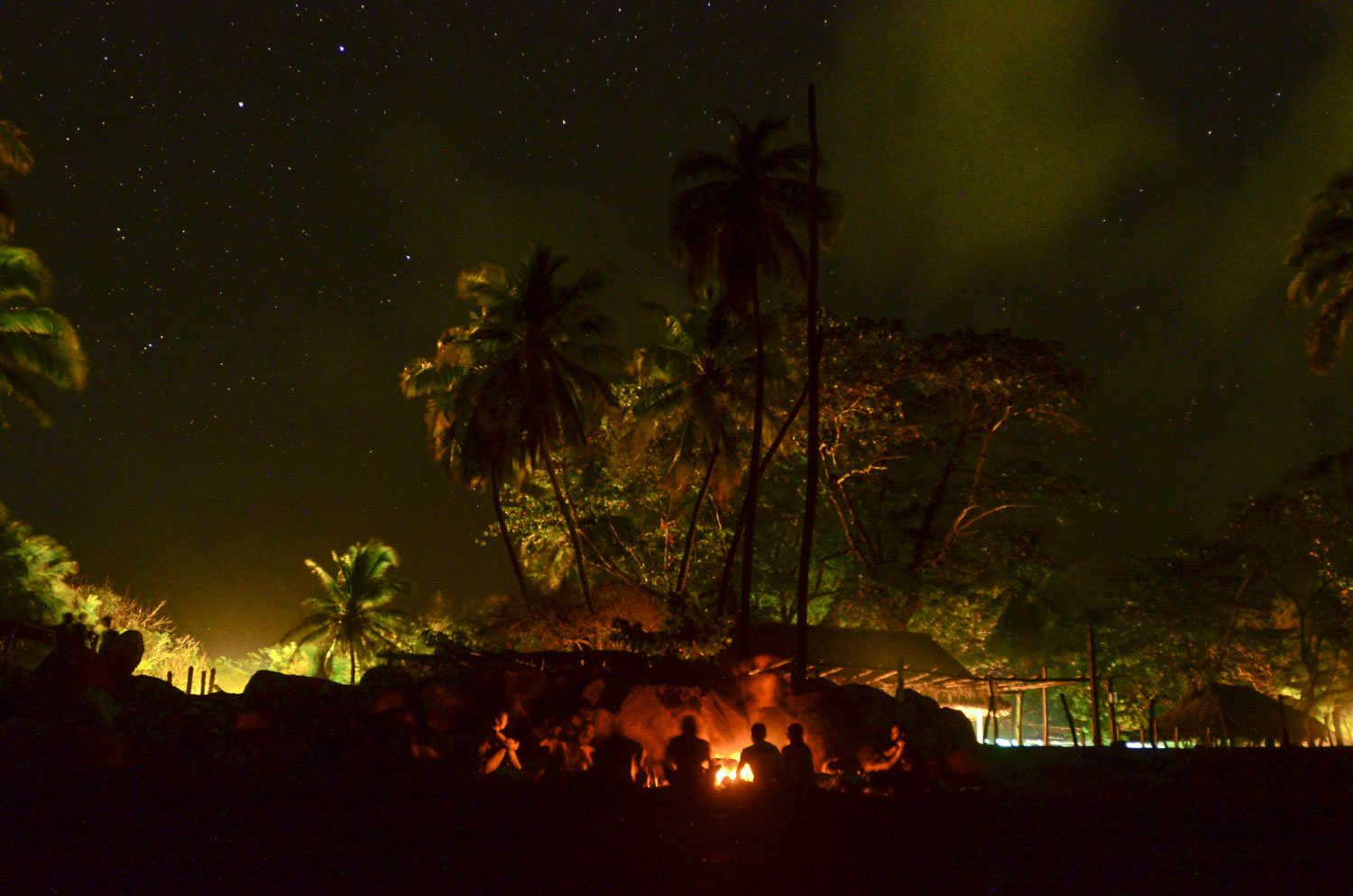 Campfires and music under the stars in Jiquilillo