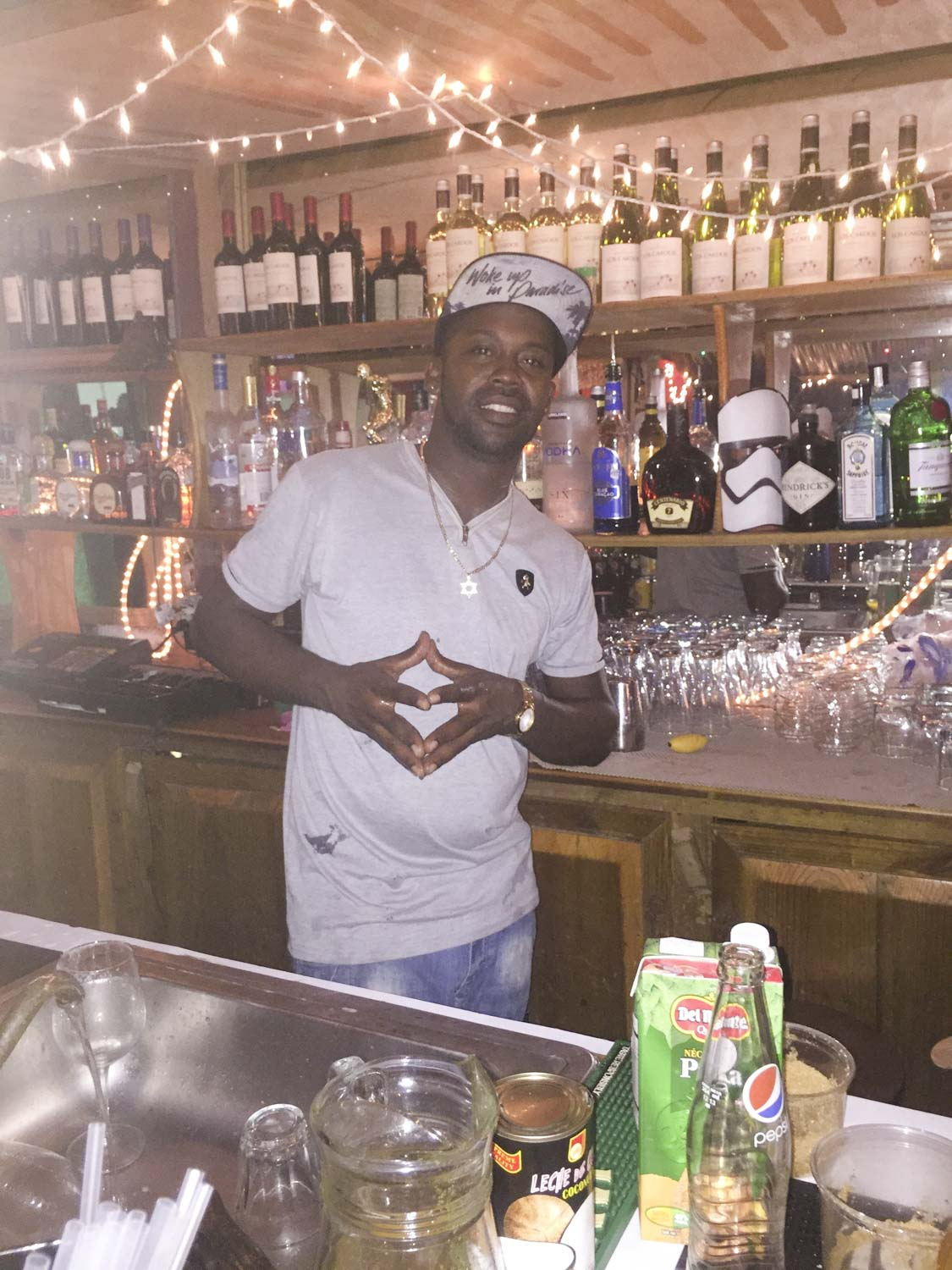 Lucho, the best bar tender in Bocas