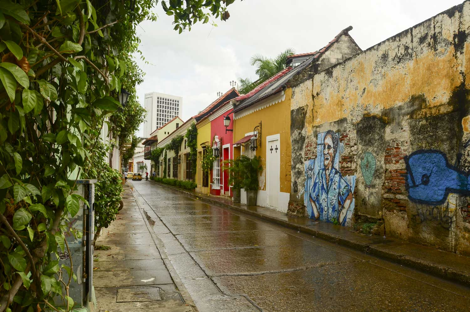 View of our street in Getsemani