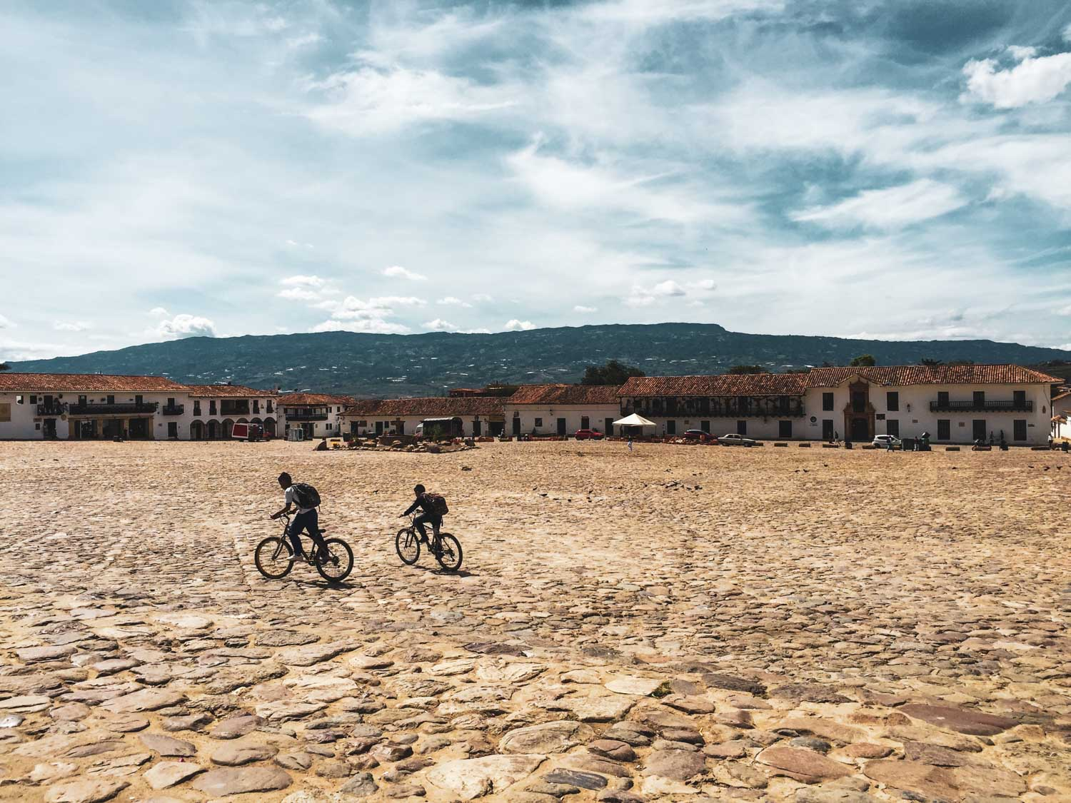The biggest cobble stone plaza in South America
