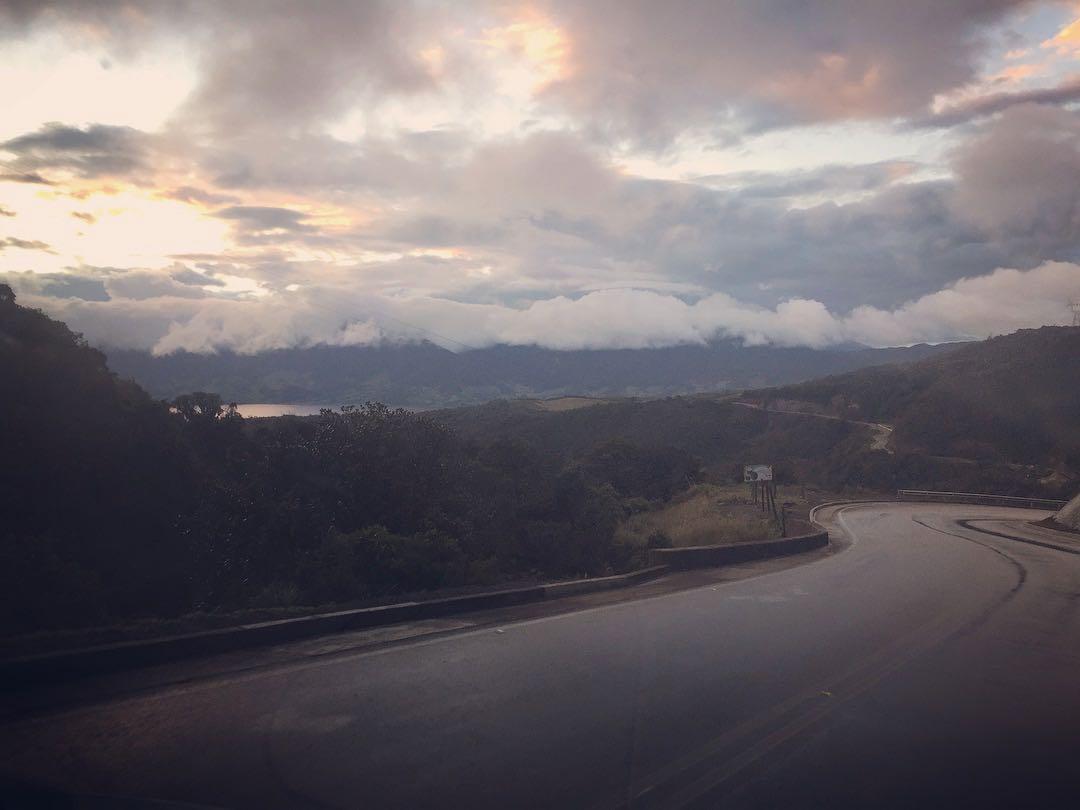 First sight of Laguna de Cocha