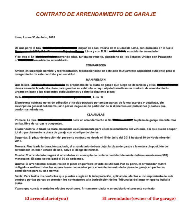 CONTRACT SAMPLE