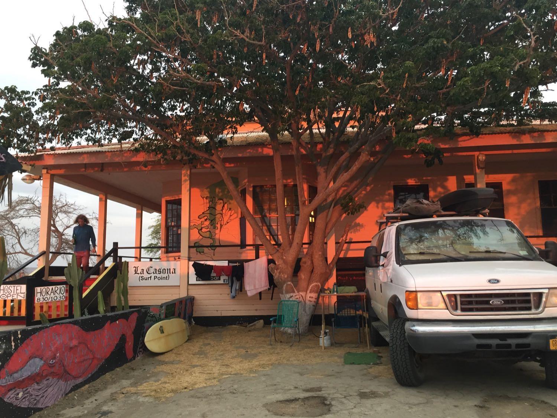 Our setup at la Casona in Lobitos