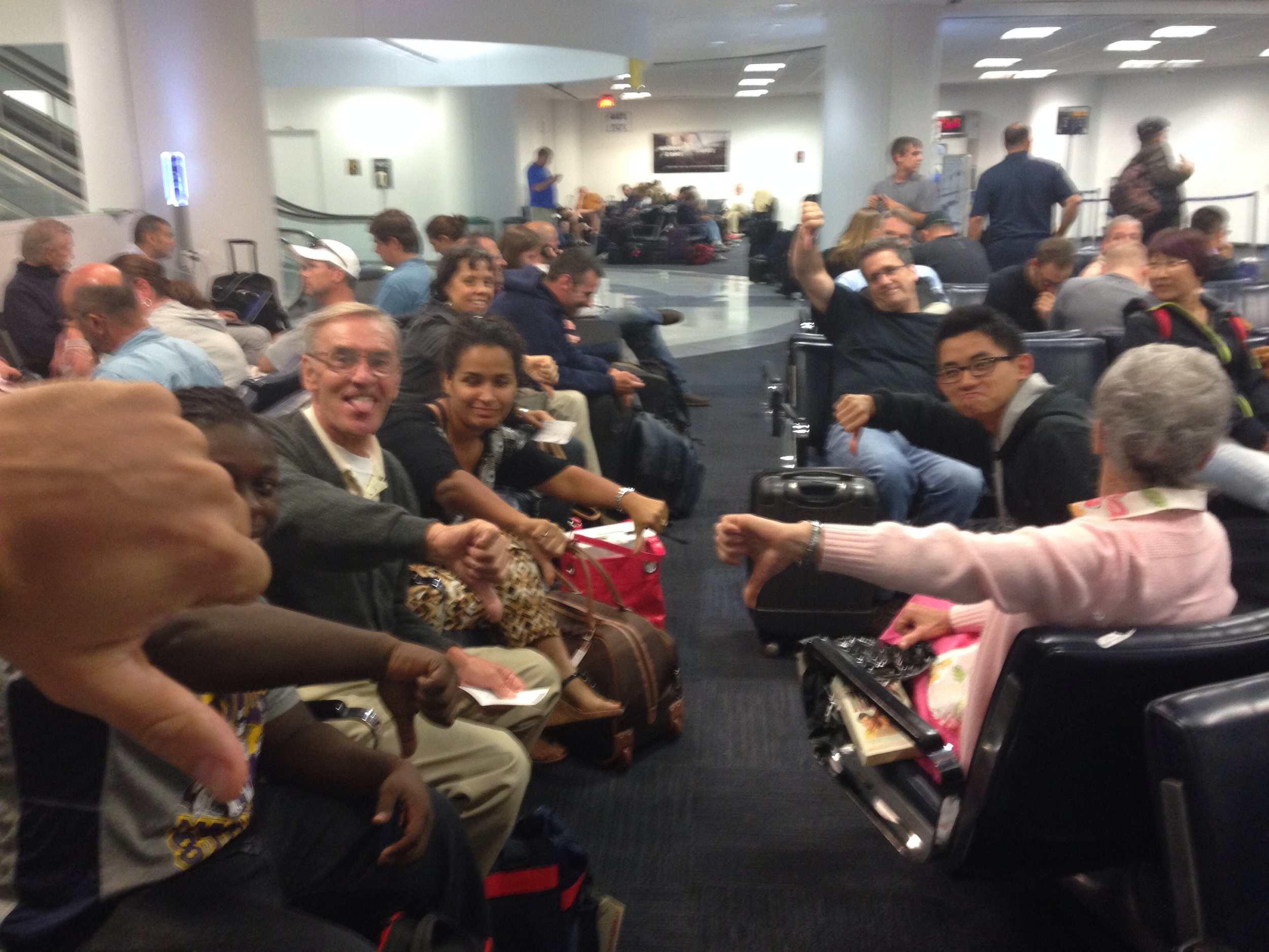 How customers feel about United Airlines - pic from Sunday 6/15 United flight Newark to Providence
