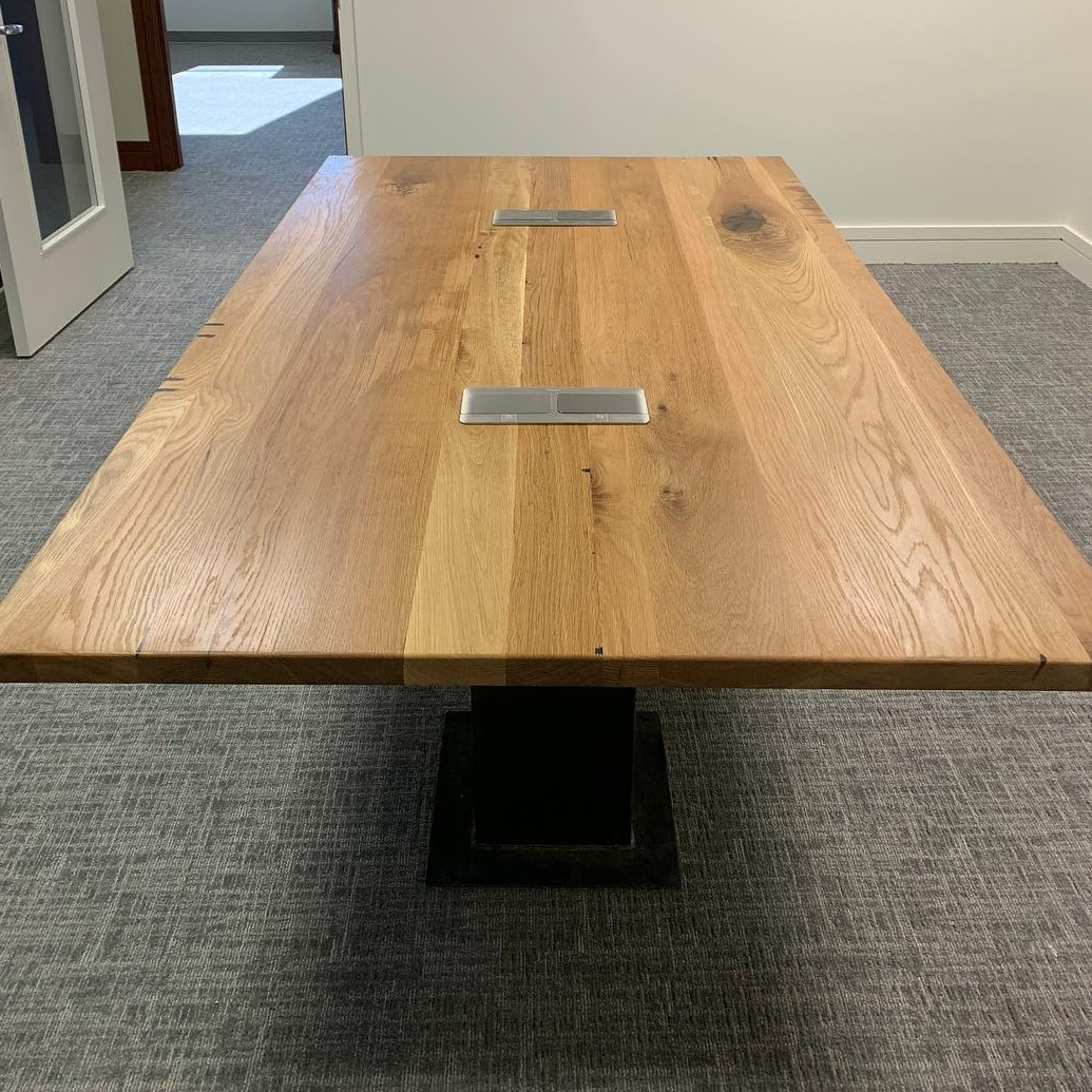 Custom Conference Table with Data Ports