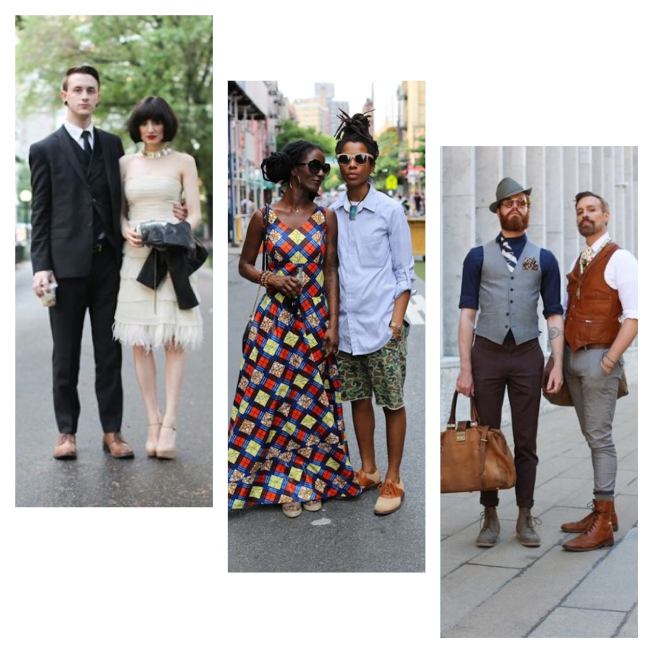 I love how these duos compliment each other's style.