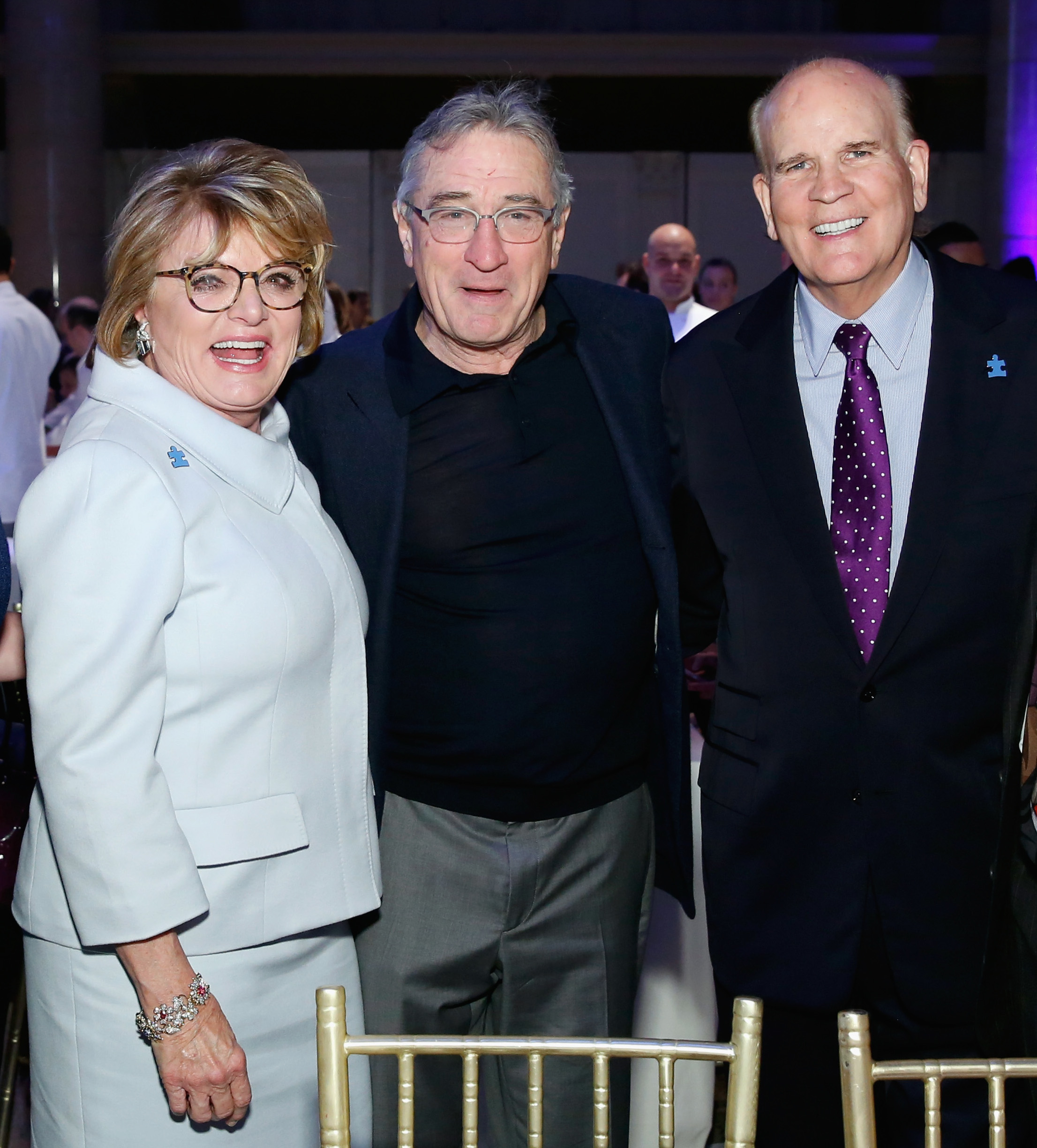 Autism Speaks Co-Founders Suzanne and Bob Wright with Robert De Niro.