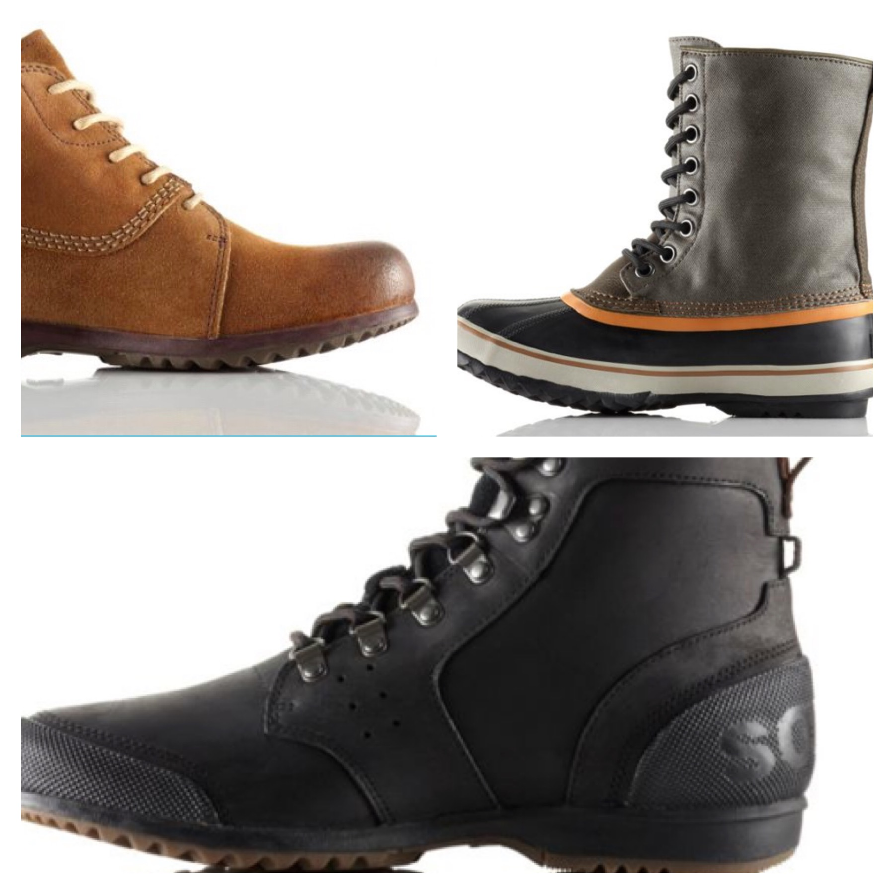 Winter boots don't have to be ugly. Sorel has versatile styles that look good, keep your feet warm and dry and may even be on sale right now!!