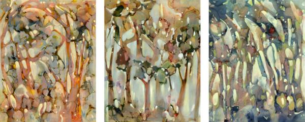 Reflections I, II and III, 2014