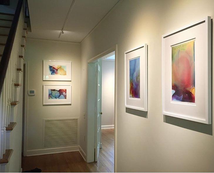 """Terma Series, 9x16"""" each, installed in private residence in Baton Rouge, LA. Gallery:  FW Gallery  Designer: Sara Lobos Brignac of  Workshop 31 Twelve ."""