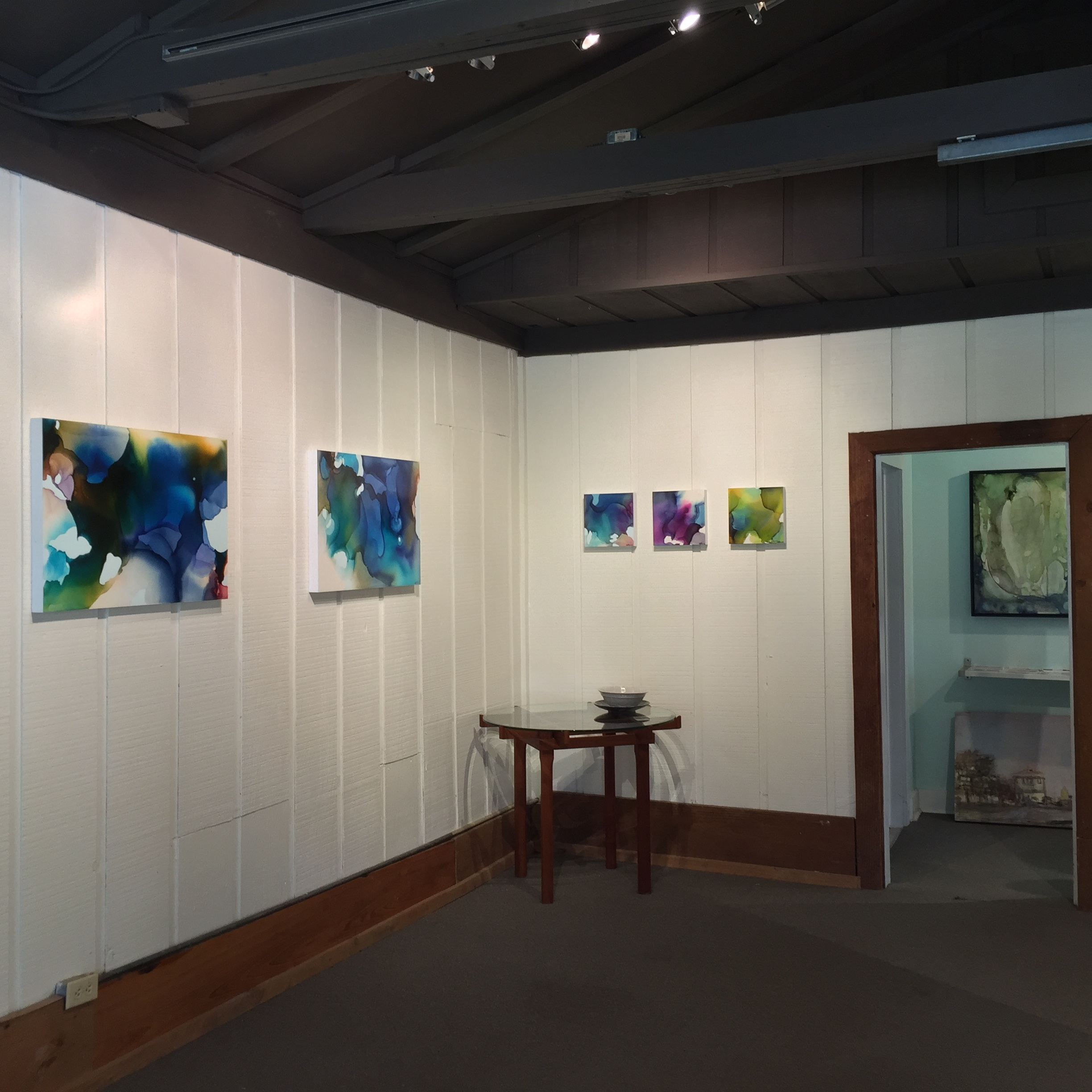 Frameworks Gallery , Baton Rouge, LA. Impromptu show of work during the Great Flood of August 2016.
