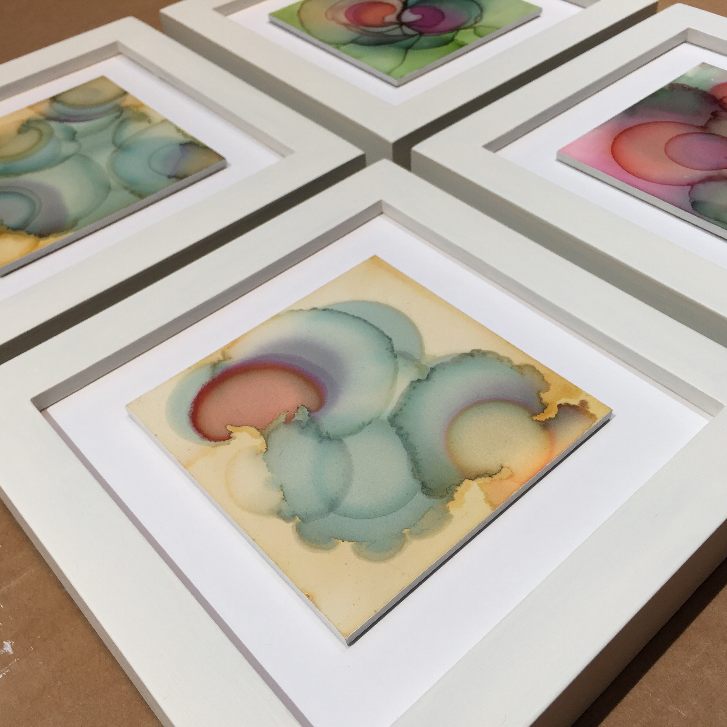 Specials Suite , float-mounted, custom painted frames, choose from 4 designs ($275 each).