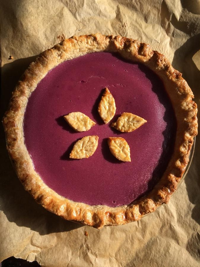 My untraditional purple sweet potato pie.