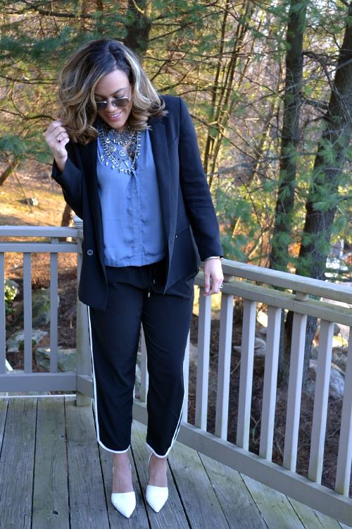 how to wear track pants express studio long vest zara.jpg