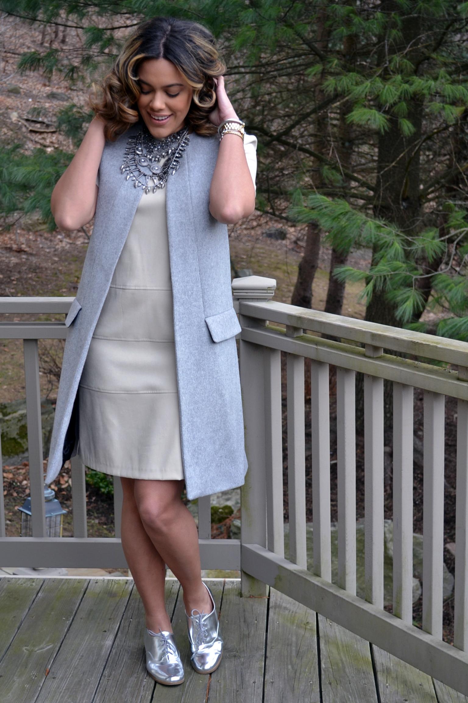 how-to-wear-zara-gray-vest-coat-suede-shift-dress-metallic-oxfords.jpg