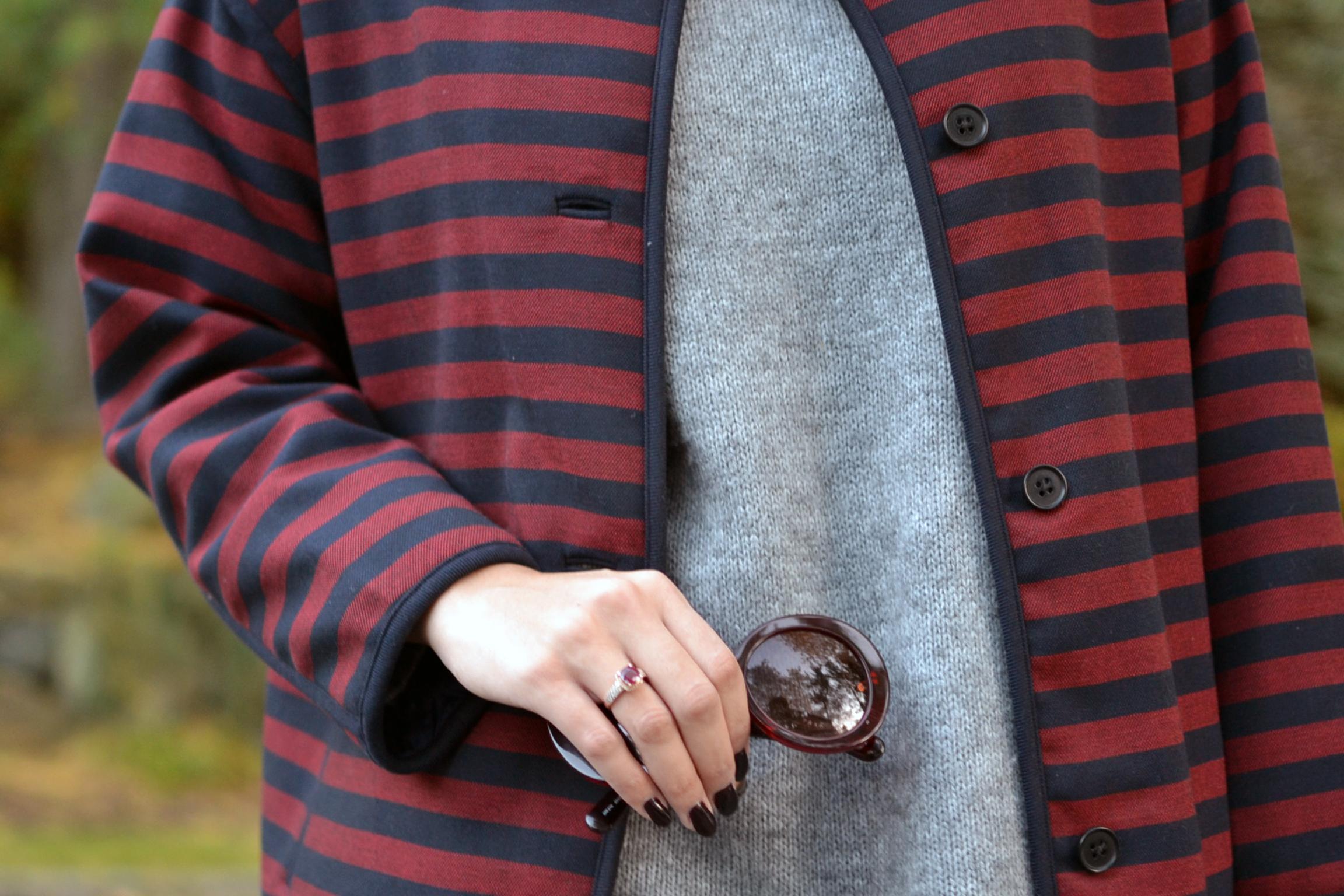 how-to-wear-gap-striped-collarless-coat-prada-baroque-sunglasses-shoemint-oxfords.jpg