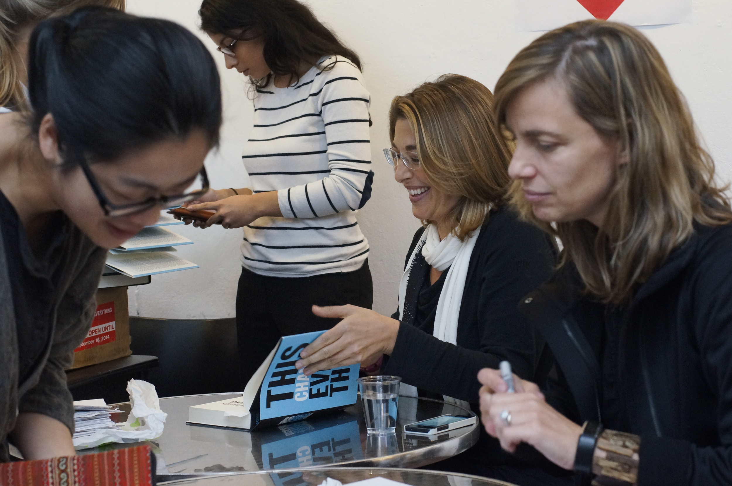 Naomi Klein signs copies of  This Changes Everything: Capitalism vs. The Climate  and Kate Orff signs copies of  Petrochemical America , September 24, 2014, Columbia University.