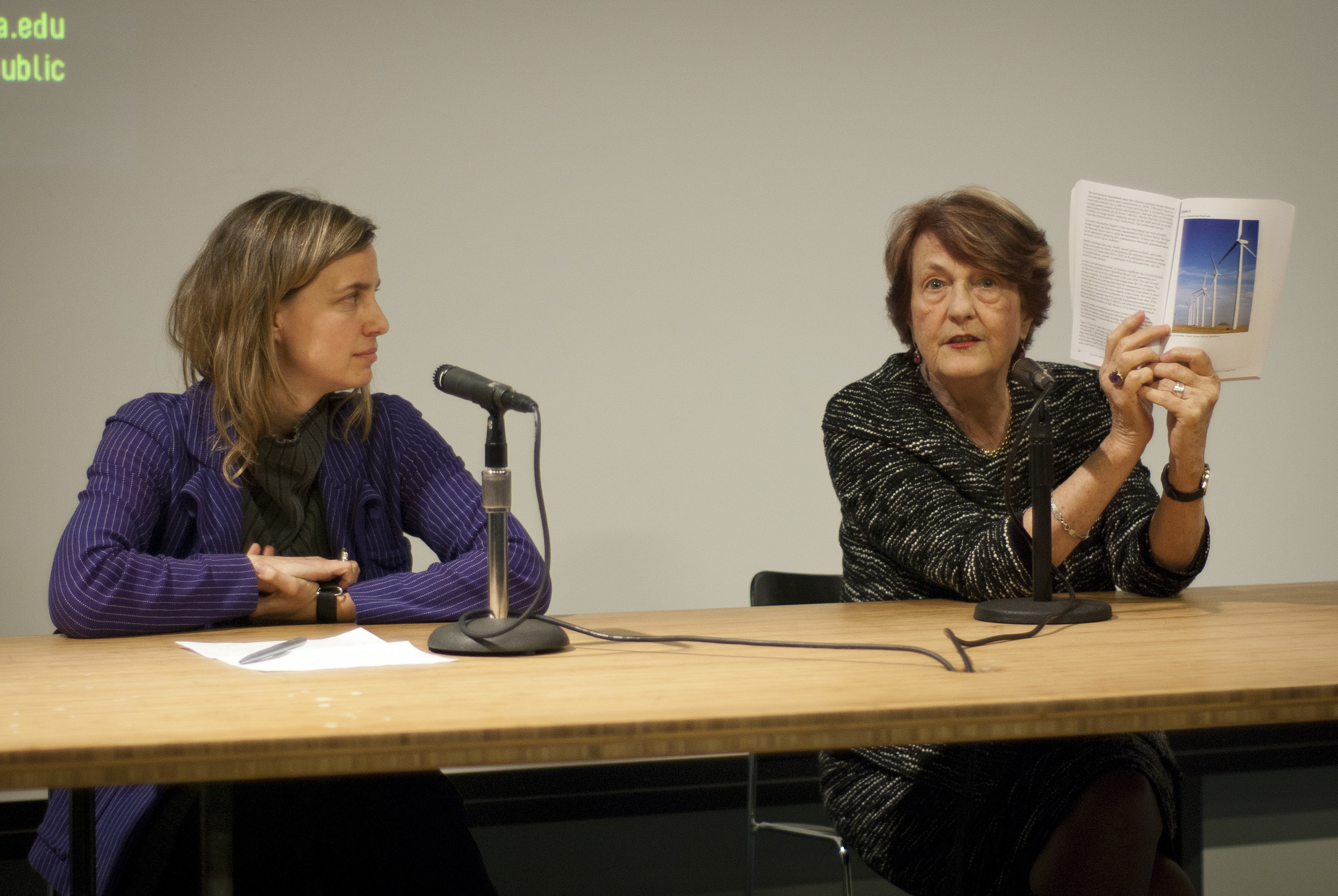 Dr. Helen Caldicott and Kate Orff, April 2, 2012, Wood Auditorium, Columbia University.