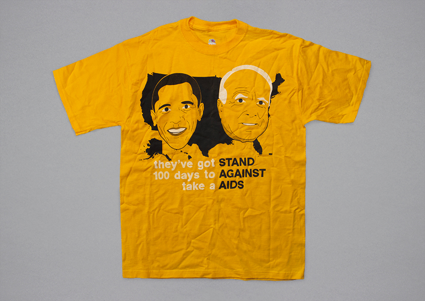 This 2008 T-shirt was designed by Ian Crowther.