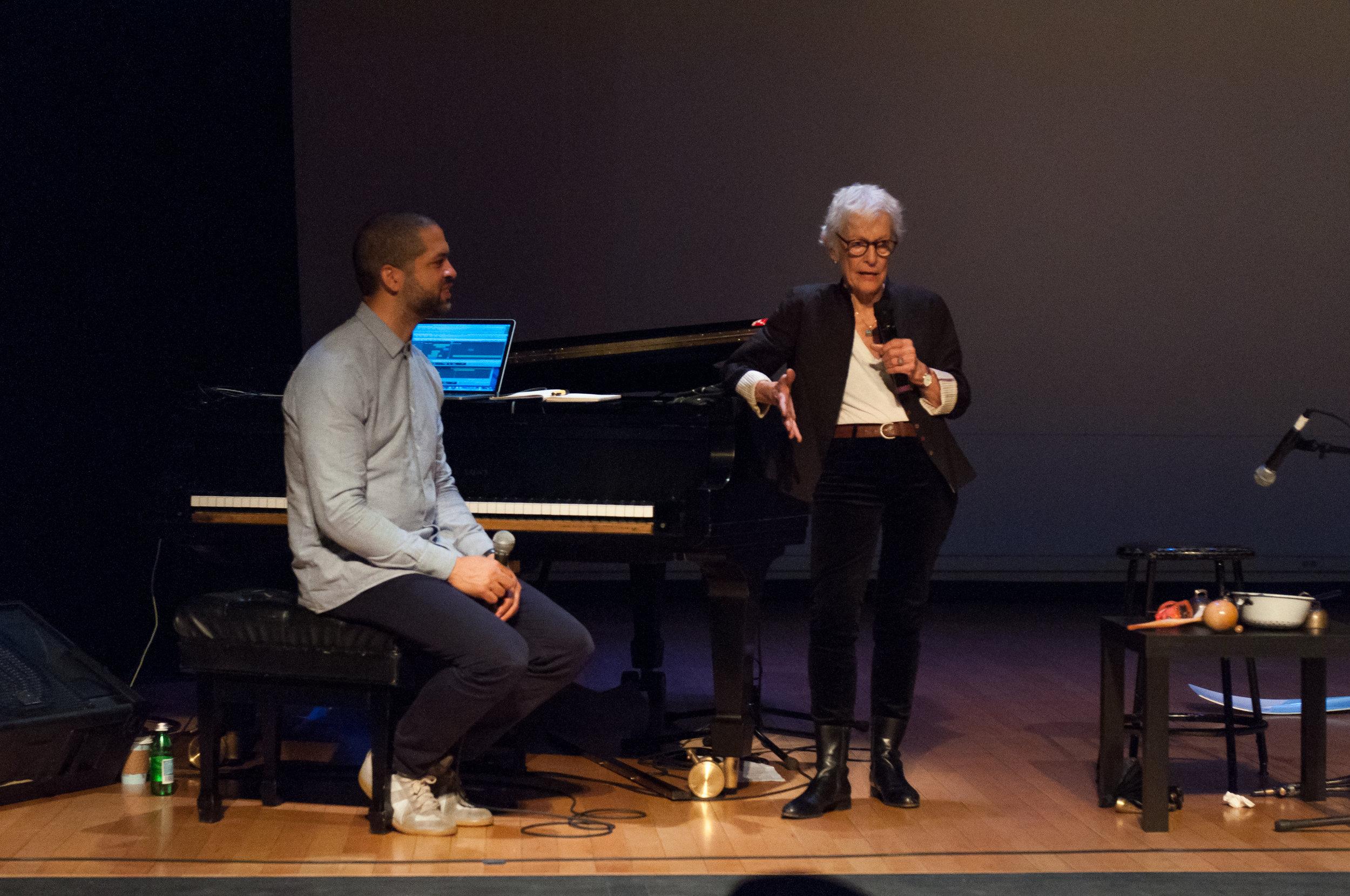 Jason Moran and Joan Jonas, November 12, 2015, Miller Theatre.