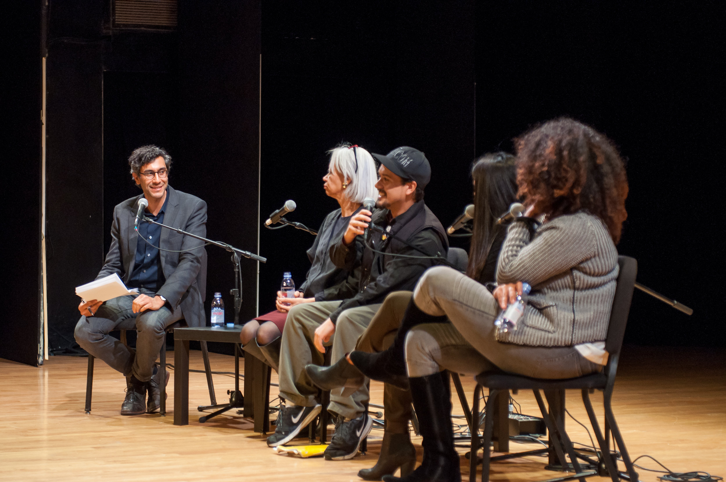 The Bigger Picture:  Do The Right Thing , Ramin Bahrani, Patricia Williams, Noche Diaz, Marilyn Zuniga, and Jamilah Lemieux, October 19, 2015, Miller Theatre.