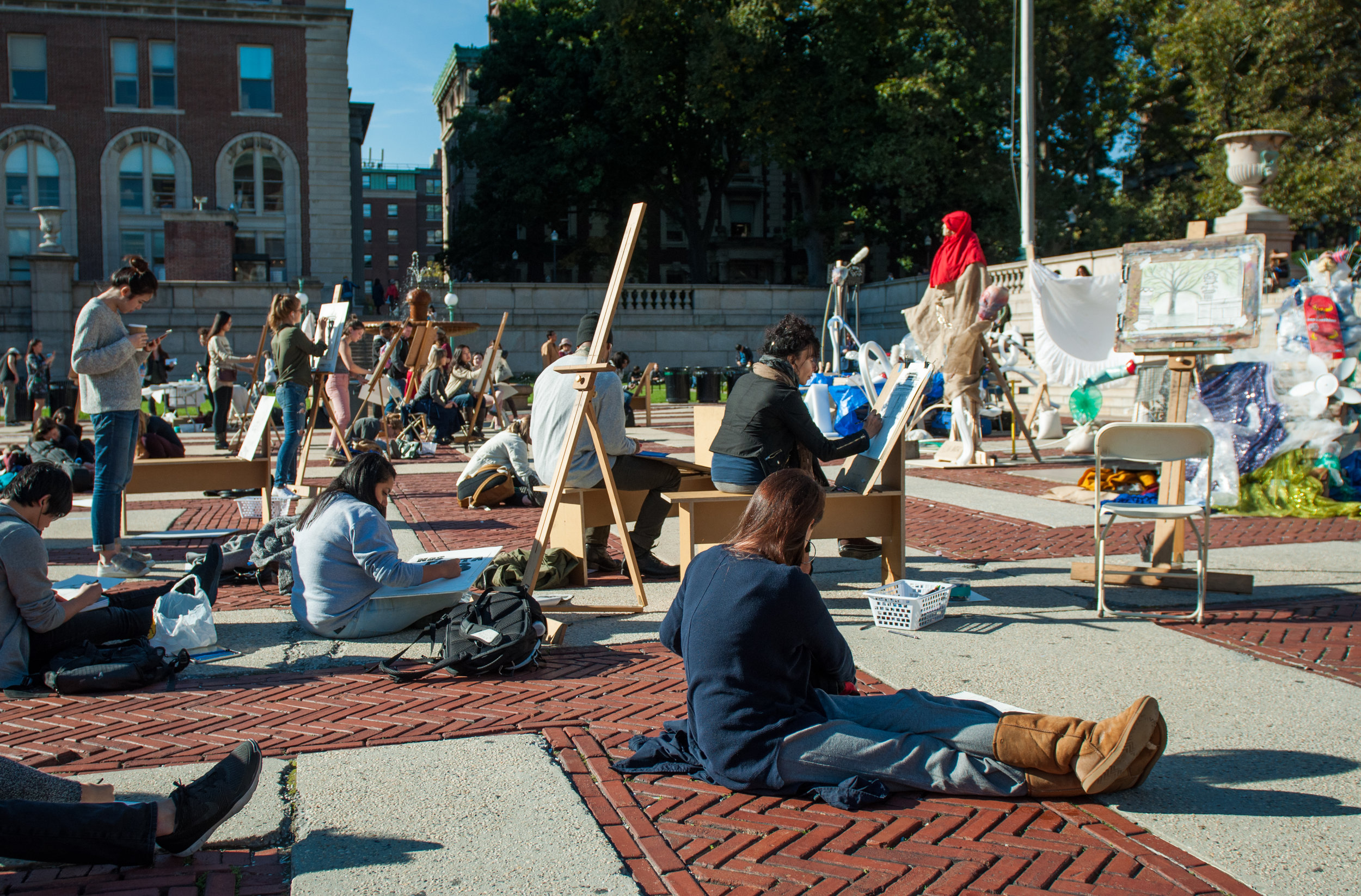 The Big Draw, October 11, 2016, Low Plaza, Columbia University.