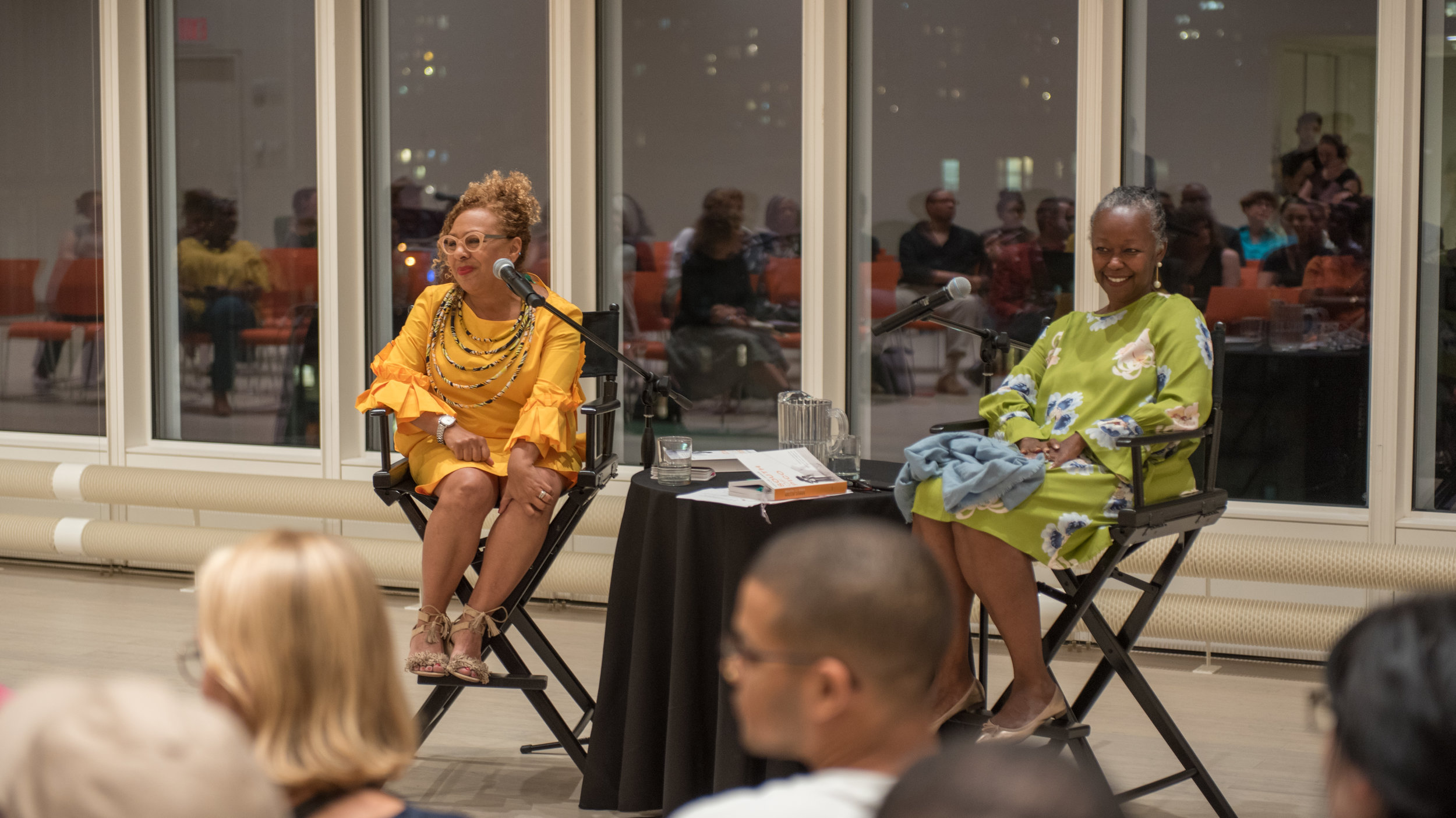 Kellie jones and Farah Griffin discuss  South of Pico: African American Artists in Los Angeles in the 1960s and 70s , Lenfest Center for the Arts.