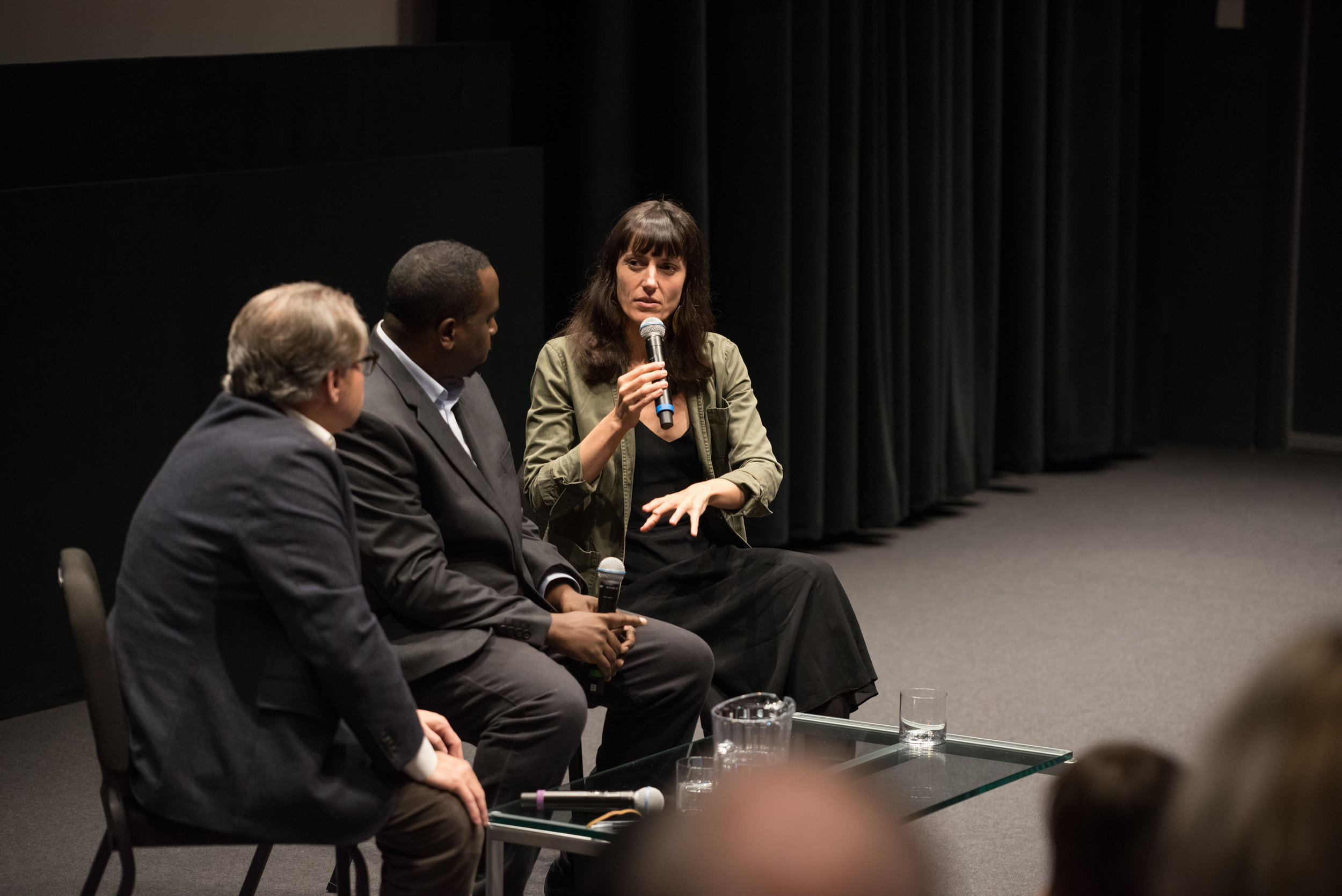 Astra Taylor discusses  What is Democracy?  with Nicholas Lemann and Chenjerai Kumanyika, November 1, 2018, Lenfest Center for the Arts.