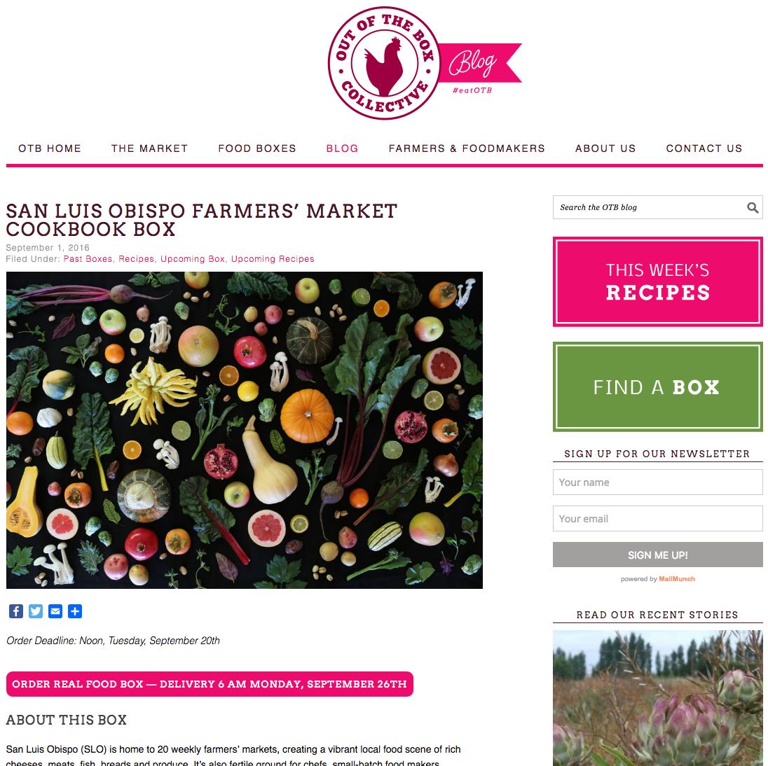 http://blog.outoftheboxcollective.com/recipes/san-luis-obispo-farmers-market-cookbook-box/