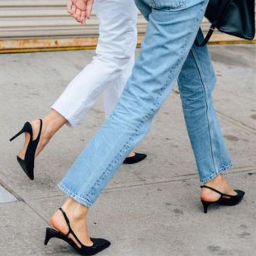 Kitten heels are back. Meow.