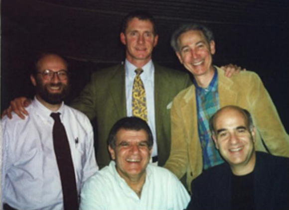 Clockwise from left: Paul Kerson, Sebastian Schuetz, Marc Leavitt, Ronnie Mandowski (seated), and Joseph Yamaner (seated).