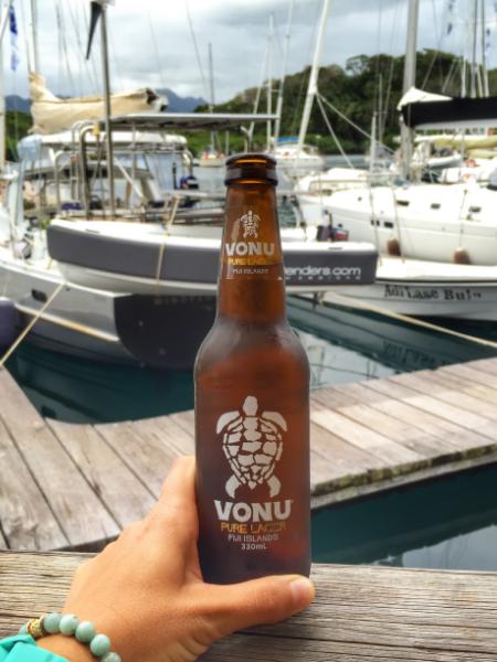I drink beers in Fiji