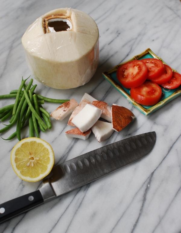 Fiji coconut salad ingredients